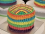 Rainbow Cake & Sourcream Chocolate Almond Slice (RC1)